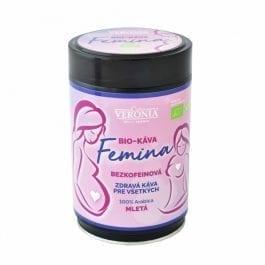 Mletá Bio bezkofeínová káva Femina
