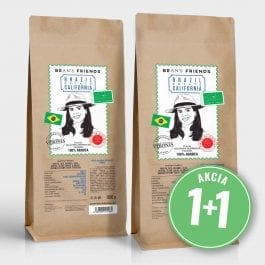 Zrnková káva Brazil Estate California 2 kg