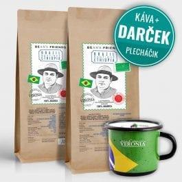 Zrnková káva Brazil Boutique Ethiopia 2 kg + darček