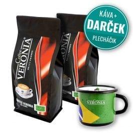 Zrnková káva Coffee Veronia 2 kg + darček