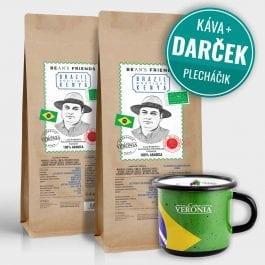 Zrnková káva Brazil Boutique Kenya 2 kg + darček