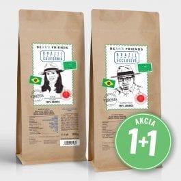 Zrnková káva Brazil Santos Exclusive + Estate California 2 kg