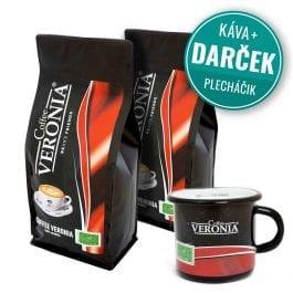 Zrnková káva Coffee Veronia 2 kg + darček (plecháčik)