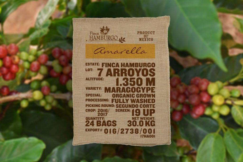 Označenia na vreciach kávovníkových zŕn - Amarella